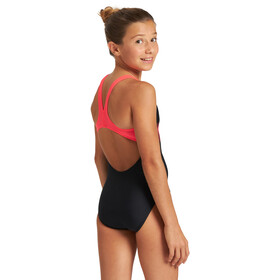 arena Wakes Pro Back One Piece Swimsuit Girls black/fluo red